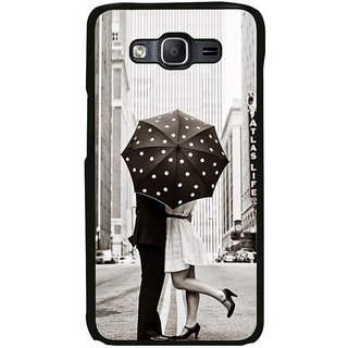 ifasho couple kissing in rain with umbrella Back Case Cover for Samsung Galaxy E5
