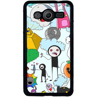 ifasho Cartoon Soft face many cartoons characters Back Case Cover for Samsung Galaxy Core 2 G355H