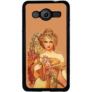 ifasho Young Girl with flower in hand Back Case Cover for Samsung Galaxy Core 2 G355H