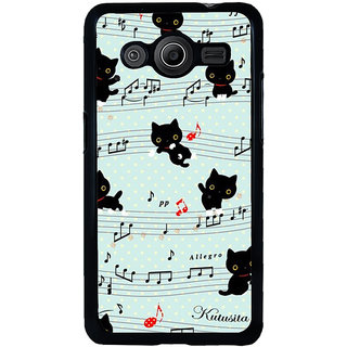 ifasho Animated Pattern design black and white music symbols and cats Back Case Cover for Samsung Galaxy Core 2 G355H