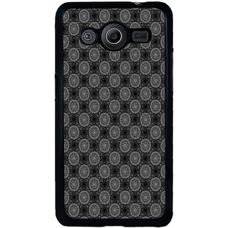 ifasho Animated Pattern design black and white flower in royal style Back Case Cover for Samsung Galaxy Core 2 G355H