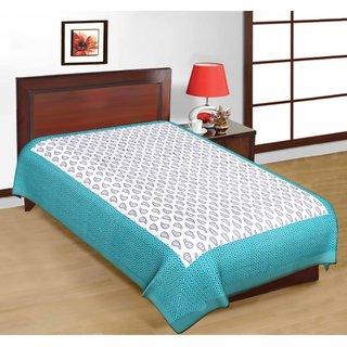 Art Bazar Single Cotton Printed Bed Sheet
