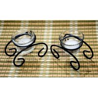 Being Nawab Stylish Swiral Combo Tealight Candle Holder