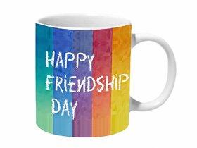 Mooch Wale Happy Friendship Day Colorful Ceramic Mug