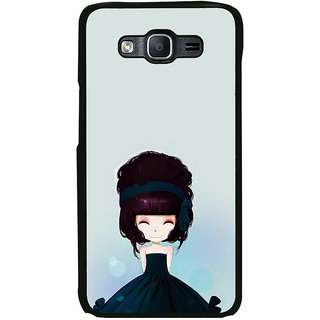 ifasho Cute Girl with Ribbon in Hair Back Case Cover for Samsung Galaxy E7