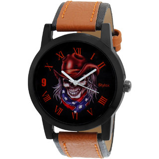 Stylox Black and White Stylish Dial Mens Watch
