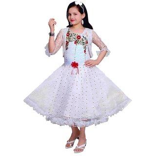 Sarrah Girls Red & White Dress (Size: 32)
