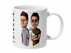 Mooch Wale Joey And Chandler And The Duck Friends Art Work Ceramic Mug