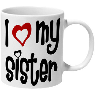 Mooch Wale I Love My Sister Ceramic Mug