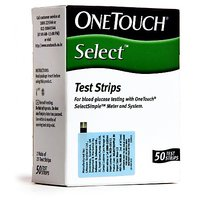 50 Test Strips of OneTouch Select Glucometer
