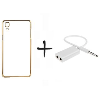 Meephone Back Cover for Apple iPhone 5 (GOLDEN) With AUX SPLITTER