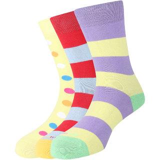 Calzini Mojeme Men's Casual Calf Cotton Socks Pack of 3 Pair