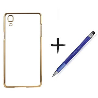 Meephone Back Cover for Samsung Galaxy J1 (GOLDEN) With Stylus Pen