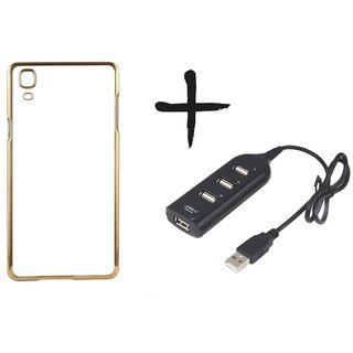 Meephone Back Cover for Samsung Galaxy J2(2016) (GOLDEN) With Usb hub