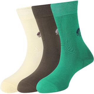 Calzini Mojeme Men's Formal Calf Mercerised Cotton Socks Pack of 3 Pair
