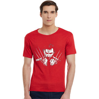 Incynk Wolverine Men RED Printed  Tshirt