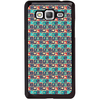 ifasho Modern Art Design Pattern with Lot Of small anchor and animal Back Case Cover for Samsung Galaxy Grand Prime