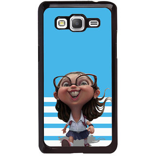 ifasho Cute Girl with Specs running to school cartoon Back Case Cover for Samsung Galaxy Grand Prime