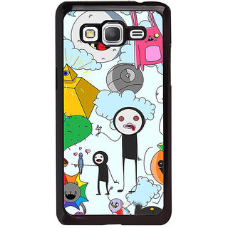 ifasho Cartoon Soft face many cartoons characters Back Case Cover for Samsung Galaxy Grand Prime