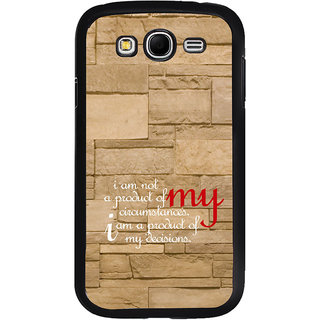 ifasho Kowledge quotes on stone pattern  Back Case Cover for Samsung Galaxy Grand