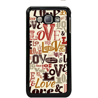 ifasho Love pattern Back Case Cover for Samsung Galaxy J1 (2016 Edition)
