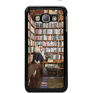 ifasho colrful design library pattern Back Case Cover for Samsung Galaxy J1 (2016 Edition)