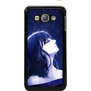 ifasho Girl in rain Back Case Cover for Samsung Galaxy J1 (2016 Edition)