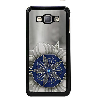 ifasho Animated Pattern design black and white diamond in royal style Back Case Cover for Samsung Galaxy J1 (2016 Edition)