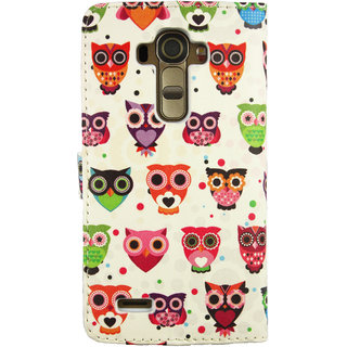 Emartbuy Phone LG G4 Case Wallets/Flips Multi Owls