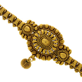 Anuradha Art Golden Finish Styled With Trendy  Classy Look Armlet Bajuband For Women/Girls
