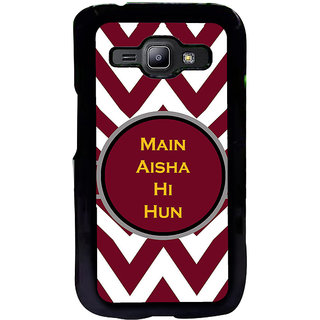 ifasho Main Aisha hi hun in quote in arrows Back Case Cover for Samsung Galaxy J1
