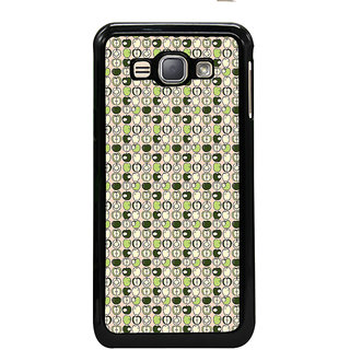 ifasho Animated Pattern design many small apple full and half Back Case Cover for Samsung Galaxy J1 (2016 Edition)