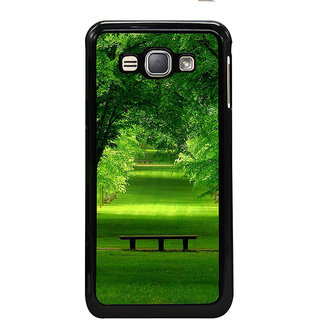 ifasho Green grass road with trees on the two side Back Case Cover for Samsung Galaxy J1 (2016 Edition)