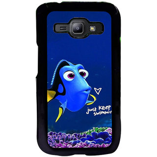 ifasho Fish cartoon just keep swimming Back Case Cover for Samsung Galaxy J1