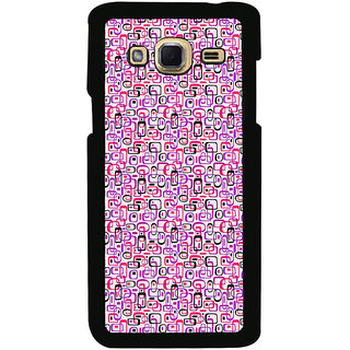 ifasho Colour Full Squre Pattern Back Case Cover for Samsung Galaxy J3