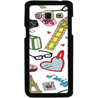 ifasho Modern Art Design Pattern camera box spec love tower Back Case Cover for Samsung Galaxy J3