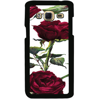 ifasho Animated Pattern colorful rose flower with leaves Back Case Cover for Samsung Galaxy J3