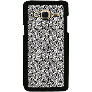 ifasho Animated Pattern  littel and Big Circle black and white Back Case Cover for Samsung Galaxy J3
