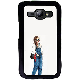 ifasho Girl in jeans Back Case Cover for Samsung Galaxy J1