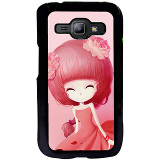 ifasho Cute Girl Back Case Cover for Samsung Galaxy J1