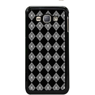 ifasho Modern Theme of royal design in black and white pattern Back Case Cover for Samsung Galaxy J1 (2016 Edition)