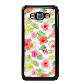 ifasho Animated Pattern mander flower with leaves Back Case Cover for Samsung Galaxy J1 (2016 Edition)