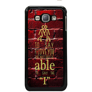 ifasho Love Quotes I love you Back Case Cover for Samsung Galaxy J1 (2016 Edition)