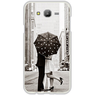 ifasho couple kissing in rain with umbrella Back Case Cover for Samsung Galaxy J5
