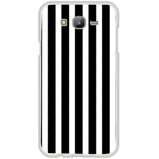 ifasho Modern Design of vertical Stripes black and white Back Case Cover for Samsung Galaxy J7