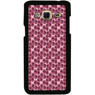 ifasho Animated Pattern small purple rose flower Back Case Cover for Samsung Galaxy J3