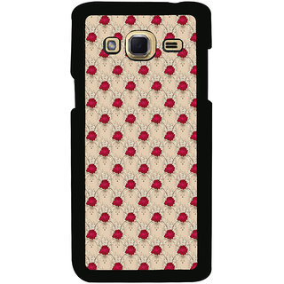 ifasho Animated Pattern small red rose flower Back Case Cover for Samsung Galaxy J3
