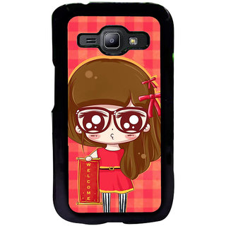 ifasho Crazy Girl Back Case Cover for Samsung Galaxy J1