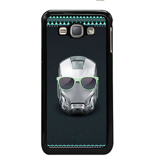 ifasho Angry mask iron Back Case Cover for Samsung Galaxy J1 (2016 Edition)
