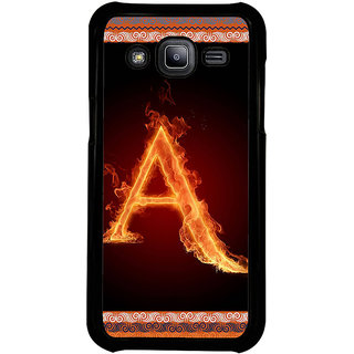 ifasho alphabet name series A Back Case Cover for Samsung Galaxy J2